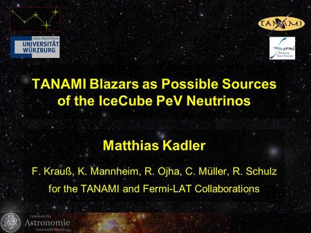 TANAMI Blazars as Possible Sources of the IceCube PeV Neutrinos
