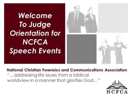 "National Christian Forensics and Communications Association ""…addressing life issues from a biblical worldview in a manner that glorifies God…"" Welcome."