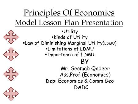 Principles Of Economics Model Lesson Plan Presentation