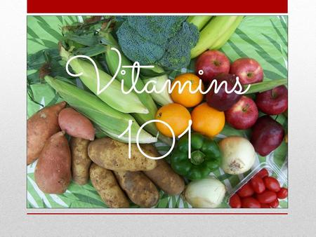 Vitamins Why do need them? What foods should I be eating? Do I need to take a multi-vitamin everyday? How can I ensure I am buying the right brand?