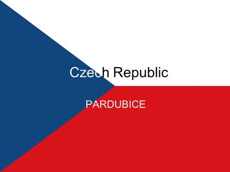 Czech Republic PARDUBICE. Pardubice is situated on the bank of the second longest river in the Czech Republic, the Labe River, where there is a mouth.