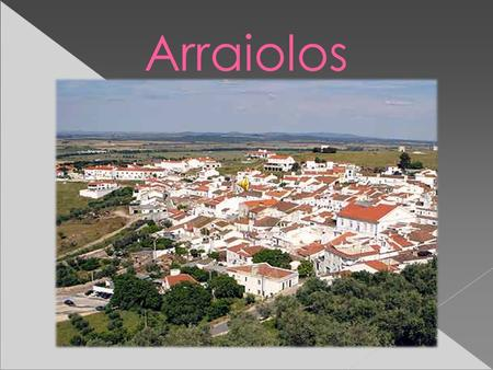 Arraiolos.  It´s a Portuguese village situated in the south of the country and it is worldwide known by its famous carpets. Arraiolos.