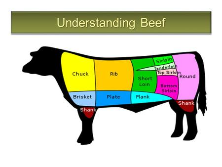 Understanding Beef. The Definition of Beef Meat from domesticated cattle Most of the meat Canadians eat comes from steers or heifers specifically raised.