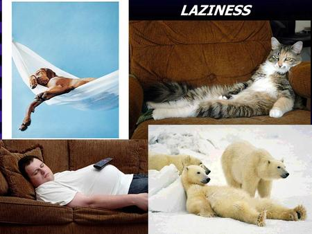 LAZINESS. Laziness - Inactivity resulting from a dislike of work - Apathy and inactivity in the practice of virtue.