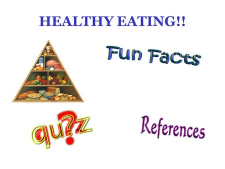 HEALTHY EATING!! FOOD PYRAMID Click on a food group to learn more about it!