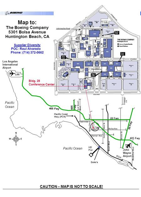 Map to: The Boeing Company 5301 Bolsa Avenue Huntington Beach, CA