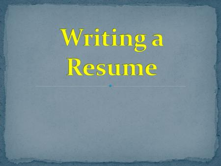 The purpose of a resume is to provide a summary of your experience, skills, and accomplishments. It is a quick advertisement of who you are, so that a.