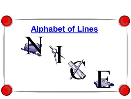 Alphabet of Lines.  Industry standard classifying the different types of lines used in drawings.  Developed by the American Society of Mechanical Engineers.