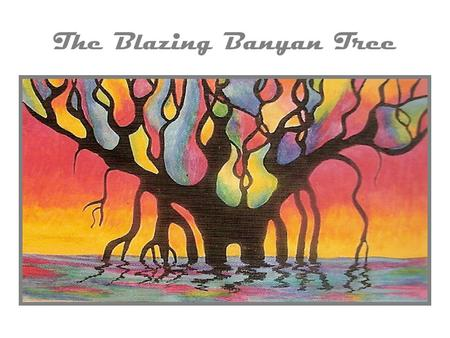 The Blazing Banyan Tree. Monday/Tuesday Art Content Objective: I can identify and draw the key structures of the banyan tree. Language objective: I will.