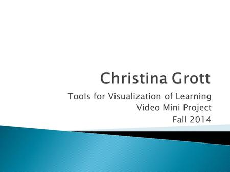 Tools for Visualization of Learning Video Mini Project Fall 2014.