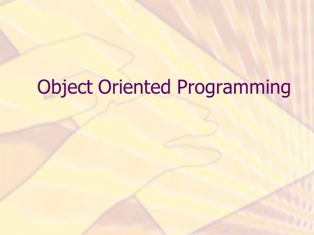 "Object Oriented Programming. Problem Description "" …customers are allowed to have different types of bank accounts, deposit money, withdraw money and."