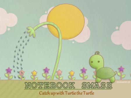 Catch up with Turtie the Turtle. Turtie the Turtle has 3 minutes to get to the finish line. In order to help him, You need to copy this on your notebook.