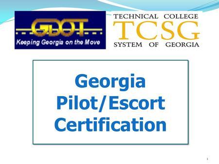Escort certification
