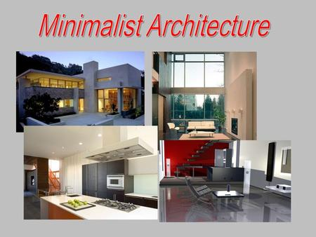 The term minimalism is used to describe a trend in design and architecture where in the subject is reduced to its necessary elements. Minimalist design.