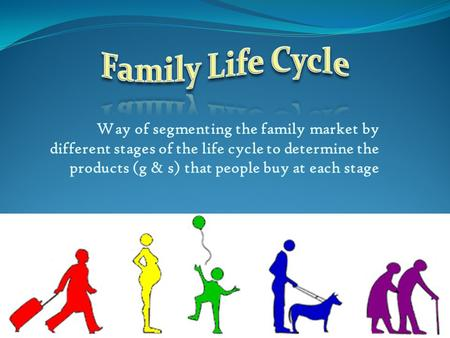 Way of segmenting the family market by different stages of the life cycle to determine the products (g & s) that people buy at each stage.