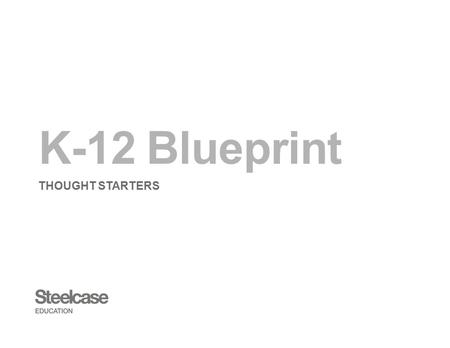 K-12 Blueprint THOUGHT STARTERS. Table of Contents Node Classroom Verb Classrooms media:scape Classroom Blended Learning Classroom Tiered Classroom Analog.
