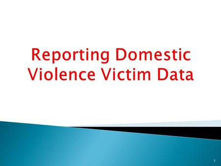 1.  Reviews the type of information reported on the Domestic Violence Victim Data table  Clarify what qualifies as a domestic relationship  Reviews.