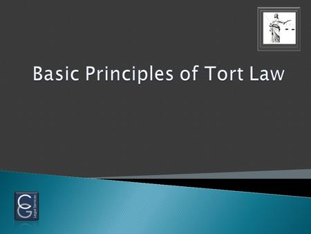  What is a tort? A civil wrong An injured party can bring a civil lawsuit to seek compensation for a wrong done to the party or the party's property.