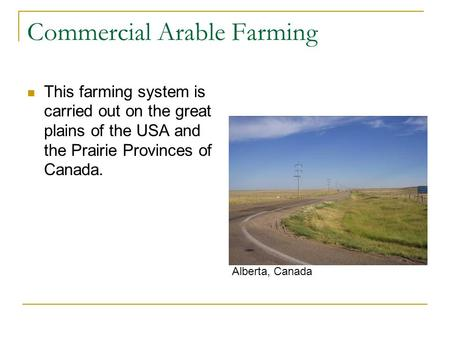 Commercial Arable Farming