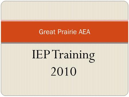 IEP Training 2010 Great Prairie AEA. Agenda Behavior overview Alignment within IEP FBA BIP Examples Other Additional Resources Questions.