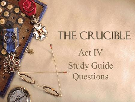 Critical thinking questions on the crucible        Original