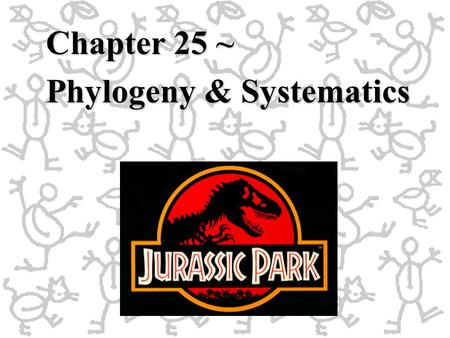 Chapter 25 ~ Phylogeny & Systematics. Phylogeny: the evolutionary history of a species Systematics:Systematics: the study of biological diversity in an.