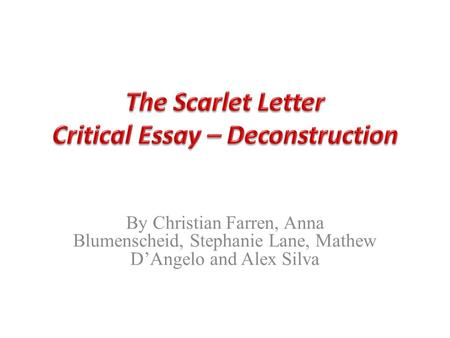 scarlet letter light and darkness essay