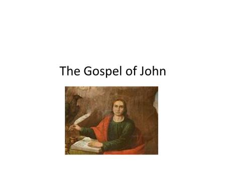 The Gospel of John. Difference between John and Synoptics More spiritual, theological (Eagle soars above others) Contains info the others do not have.