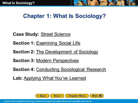 Chapter 1: What Is Sociology?