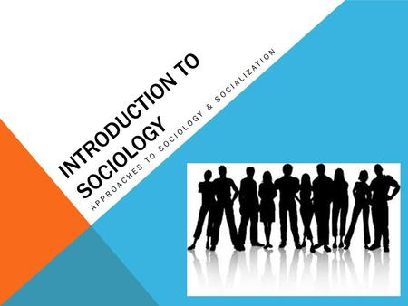 INTRODUCTION TO SOCIOLOGY APPROACHES TO SOCIOLOGY & SOCIALIZATION.