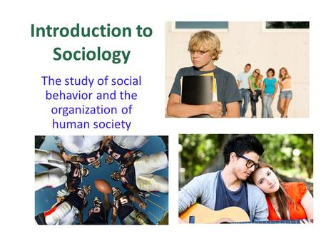 the origins of sociology Define sociology: the science of society, social institutions, and social relationships specifically : the systematic study of the development.