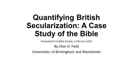 secularisation thesis essay Rethinking secularization: a global comparative perspective josé casanova o question the empirical as well as the normative validity of the privatization thesis.
