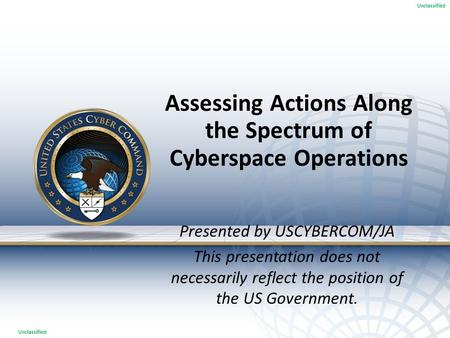 Assessing Actions Along the Spectrum of Cyberspace Operations