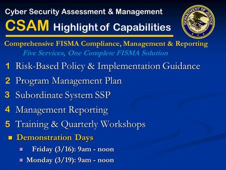 Risk-Based Policy & Implementation Guidance Risk-Based Policy & Implementation Guidance Program Management Plan Program Management Plan Subordinate System.