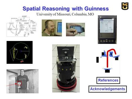 Spatial Reasoning with Guinness References Acknowledgements University of Missouri, Columbia, MO.