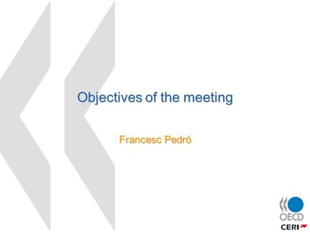 Objectives of the meeting Francesc Pedró. 2 Objectives of the NML Project  Demand side:  Define and observe what and who NML are  Compare their emergence.