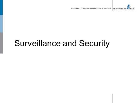 Surveillance and Security