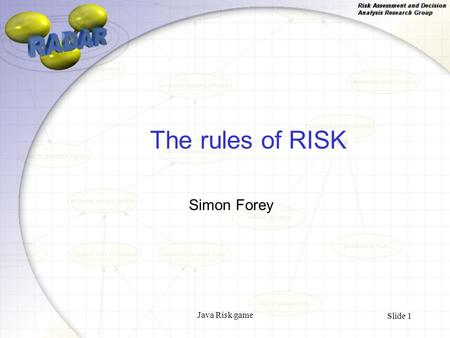 Java Risk game Slide 1 The rules of RISK Simon Forey.