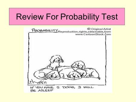 Review For Probability Test