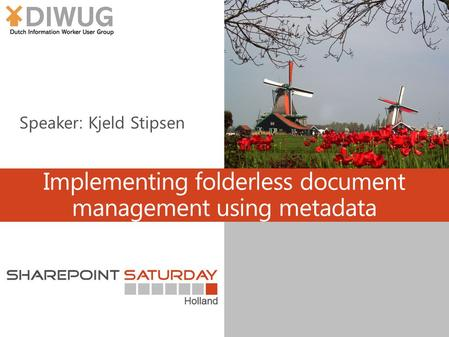Implementing folderless document management using metadata.