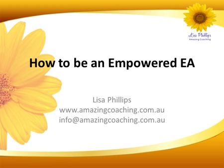 How to be an Empowered EA