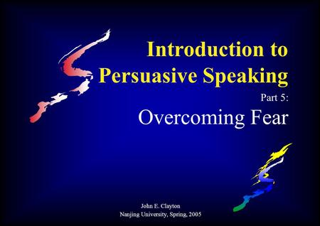 persuasive speech phobia If i am trying to write a persuasive speech,  how many ways can you use rhetorical questions in your speech   — book to speak dec 5th, 2012.