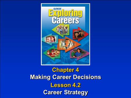 Chapter 4 Making Career Decisions Chapter 4 Making Career Decisions Lesson 4.2 Career Strategy Lesson 4.2 Career Strategy.