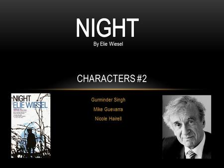 a test of our faith and fate in the novel night by elie wiesel Loss of faith in night by elie wiesel essays - eliezer wiesel in this essay i will address three important topics expressed throughout the course of the book.