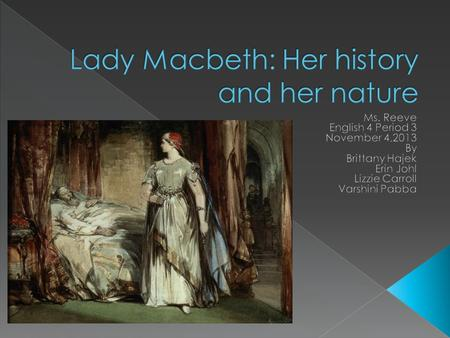 analysis of lady macbeth