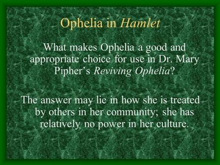 Reviving Ophelia Tackles the Issue of Physical Abuse In Teenage Relationships