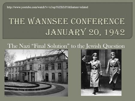 "The Nazi ""Final Solution"" to the Jewish Question"