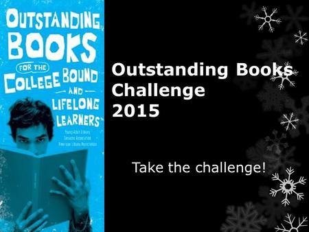 Outstanding Books Challenge 2015 Take the challenge!