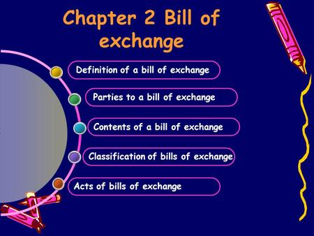Chapter 2 Bill of exchange