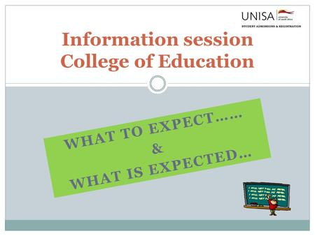 Information session College of Education